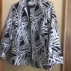 Jones Studio Jacket. Black grey and white. Size 14